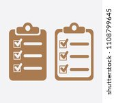 the checklist icon. clipboard... | Shutterstock .eps vector #1108799645