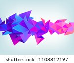 vector faceted 3d crystal... | Shutterstock .eps vector #1108812197