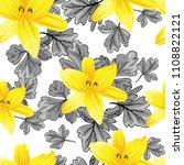 seamless flower garder liliya...   Shutterstock .eps vector #1108822121