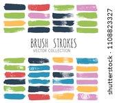 brush strokes set backgrounds.... | Shutterstock .eps vector #1108823327
