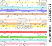 cute hand drawn seamless... | Shutterstock .eps vector #1108825721