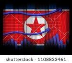 north korea economic financial... | Shutterstock . vector #1108833461