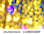 gold  yellow tone bokeh with... | Shutterstock . vector #1108846889