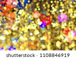 gold  yellow tone bokeh with... | Shutterstock . vector #1108846919