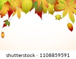 beautiful colourful autumn... | Shutterstock .eps vector #1108859591
