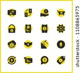 crypto finance icons set with...   Shutterstock .eps vector #1108865975