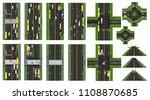 road infographic. set of sites...   Shutterstock . vector #1108870685