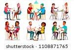friends in cafe vector. man ... | Shutterstock .eps vector #1108871765