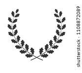 oak wreath isolated on white... | Shutterstock .eps vector #1108872089