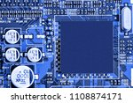 electronic circuit board close... | Shutterstock . vector #1108874171