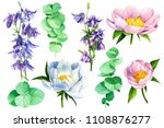 watercolor illustration ... | Shutterstock . vector #1108876277