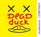 dead duck   emotional... | Shutterstock .eps vector #1108876814
