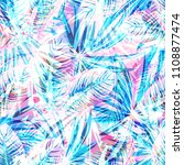 seamless exotic pattern with... | Shutterstock .eps vector #1108877474