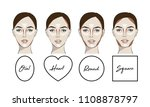 contouring makeup for different ... | Shutterstock .eps vector #1108878797