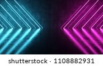 sci fi futuristic dark room... | Shutterstock . vector #1108882931