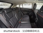 leather black seats in the car...   Shutterstock . vector #1108883411