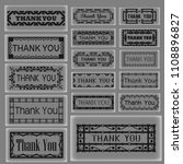 set of thank you tag frame... | Shutterstock .eps vector #1108896827