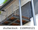 balcony with handrails of high... | Shutterstock . vector #1108903121