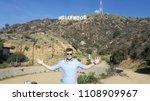tourist hollywood sign men | Shutterstock . vector #1108909967