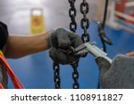 engineers are inspecting hooks... | Shutterstock . vector #1108911827