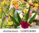 buddha and hindu fruits and...   Shutterstock . vector #1108918484