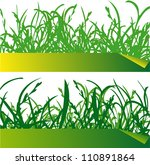 illustration of green grass... | Shutterstock .eps vector #110891864