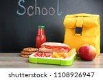 appetizing food in lunch box... | Shutterstock . vector #1108926947