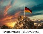 3d rendering of waving german... | Shutterstock . vector #1108937951