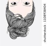 fashion illustration of girl... | Shutterstock .eps vector #1108938404