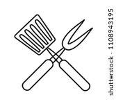 roasting utensil cutlery icon...   Shutterstock .eps vector #1108943195