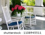 porch with rocking chairs and... | Shutterstock . vector #1108945511