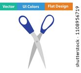 tailor scissor icon. flat color ... | Shutterstock .eps vector #1108956719