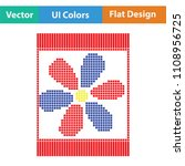 sewing ornate scheme icon. flat ... | Shutterstock .eps vector #1108956725