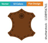 leather sign icon. flat color...