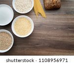 carbohydrates on the dark... | Shutterstock . vector #1108956971