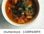 simple vegetable soup. european ...   Shutterstock . vector #1108963895