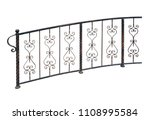 elegant forged railing  fence ... | Shutterstock . vector #1108995584