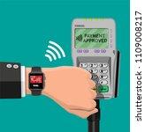 smart watch contactless... | Shutterstock .eps vector #1109008217