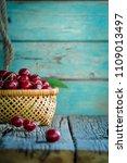 wicker basket bowl  full of... | Shutterstock . vector #1109013497