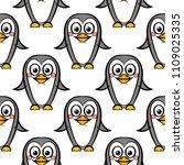 vector seamless pattern of... | Shutterstock .eps vector #1109025335