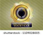 golden emblem or badge with... | Shutterstock .eps vector #1109028005