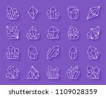 crystal paper cut art line... | Shutterstock .eps vector #1109028359