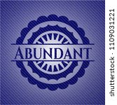 abundant badge with jean...   Shutterstock .eps vector #1109031221