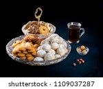 eid al fitr breakfast cookies ... | Shutterstock . vector #1109037287