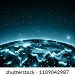 physical world map illustration.... | Shutterstock . vector #1109042987