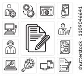 set of 13 simple editable icons ... | Shutterstock .eps vector #1109046641