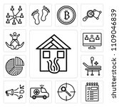 set of 13 simple editable icons ... | Shutterstock .eps vector #1109046839