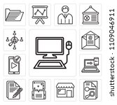 set of 13 simple editable icons ... | Shutterstock .eps vector #1109046911