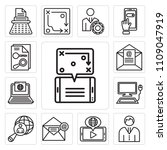 set of 13 simple editable icons ... | Shutterstock .eps vector #1109047919