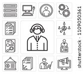 set of 13 simple editable icons ... | Shutterstock .eps vector #1109050361